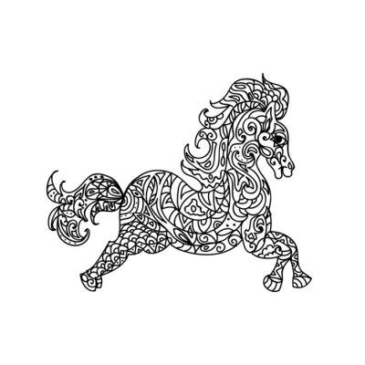 Quadro Cavallo zentangle