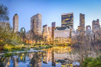 Quadro Central Park di New York City al crepuscolo