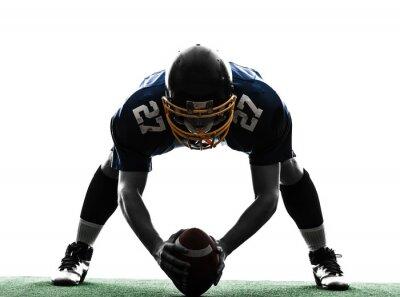 Quadro centro giocatore di football americano uomo silhouette