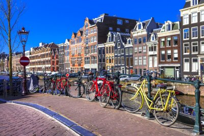 Quadro charming Amsterdam. canals and bikes