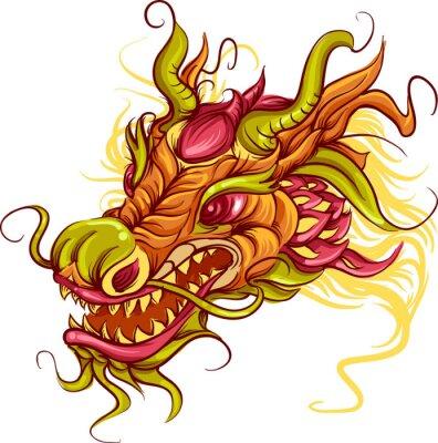 Quadro Chinese Dragon Head