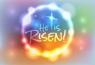 Quadro Christian Illustrazione di Pasqua Risorto