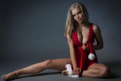 Quadro Christmas Girl