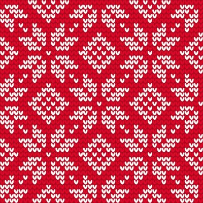Quadro Christmas knitted seamless pattern