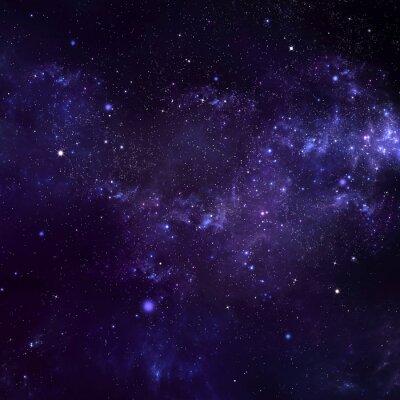 Quadro cielo notturno stellato