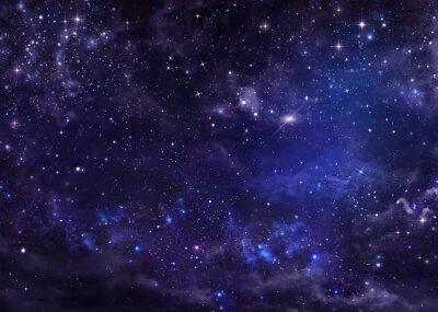 Quadro cielo stellato spazio profondo