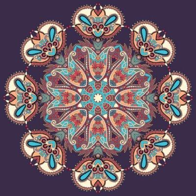 Quadro Circolo pizzo ornamento, rotondo ornamentale centrino geometrico