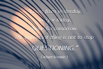 Quadro Citazione di Albert Einstein sfondo.