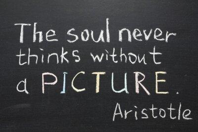 Quadro Citazione di Aristotele