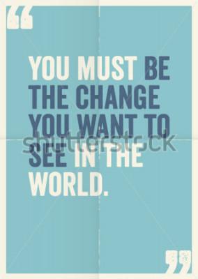 Quadro Citazioni ispiratrici e motivanti di Mahatma Gandhi, sullo sfondo del poster.