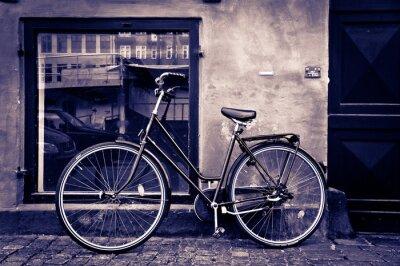 Quadro Classico annata città bicicletta retrò a Copenhagen, Danimarca