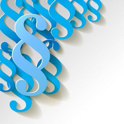 Quadro Clausola cartamodello sfondo blu
