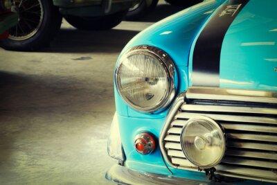 Quadro Close Up di fronte di un morbido verde Vintage Car