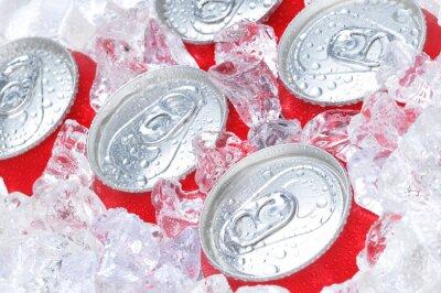 Quadro Close Up di lattine di soda in Ice
