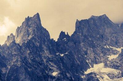 Quadro Cloudy Mountains Alp