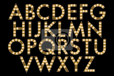 Quadro collezione alfabeto tendone