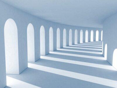 Quadro Colonnato blu con le ombre profonde. Illustrazione