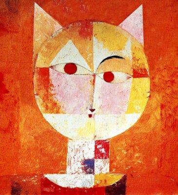 Quadro Colorata Ritratto di un gatto