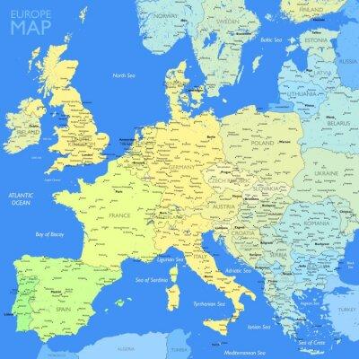 Quadro Colore mappa Europa