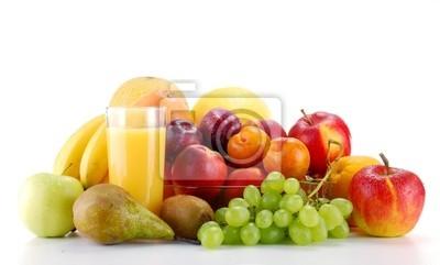 Quadro Composizione con frutta isolato su sfondo bianco