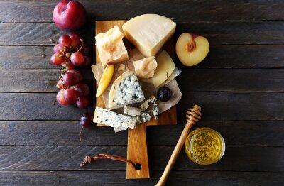 Quadro Composizione di formaggio scuro