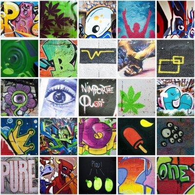 Quadro Composizione graffiti art urbain