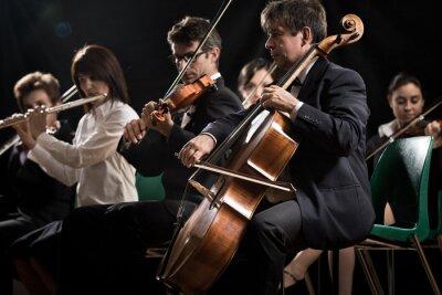 Quadro Concerto di musica classica: un'orchestra sinfonica sul palco