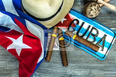 Quadro Concetto cubano tavolo di alcuni elementi correlati