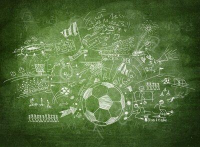 Quadro Concetto di calcio Lavagna