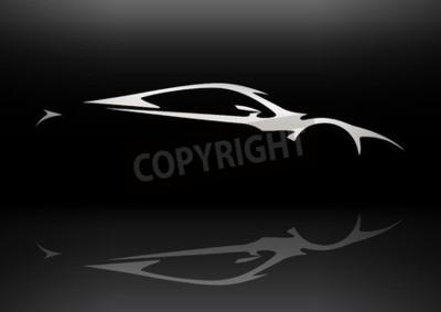 Quadro Concetto Sportscar veicolo Sagoma 06