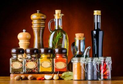 Quadro Condimento alimentare e spezie