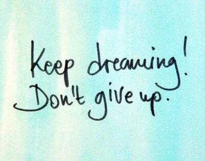 Quadro Continuo a sognare don t rinunciare