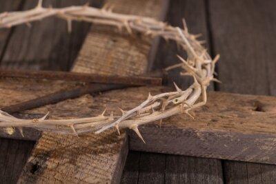 Quadro Corona di spine su una croce