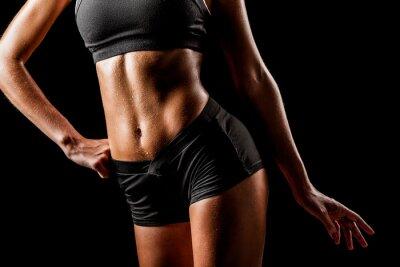 Quadro corpo della donna di sport