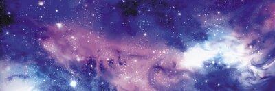 Quadro Cosmos banner con stelle