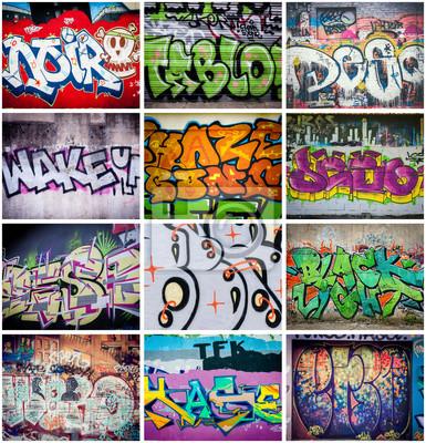Quadro Couleurs Graffiti
