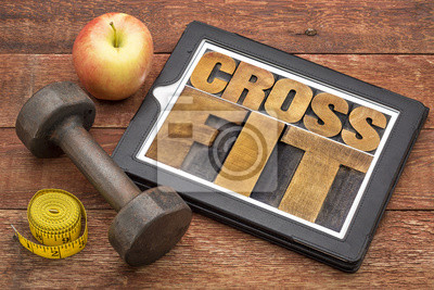 Quadro CrossFit parola astratta su tablet