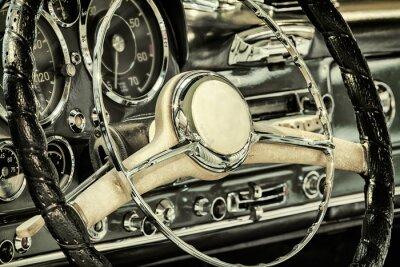 Quadro Cruscotto di un auto d'epoca