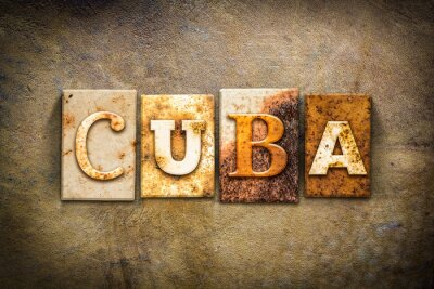 Quadro Cuba Concetto Letterpress Leather Theme