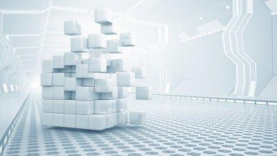 Quadro Cube in stanza virtuale