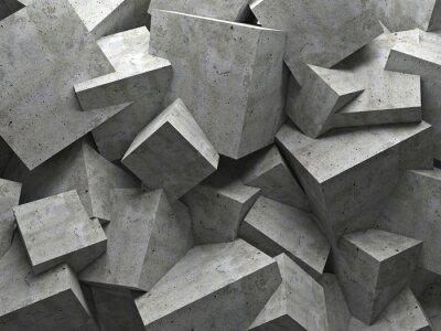 Quadro cubi parete