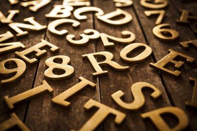 Quadro d'oro lettere