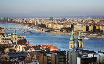 Quadro Danubio a Budapest. Ungheria
