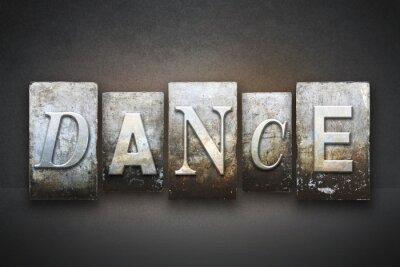 Quadro Danza Letterpress