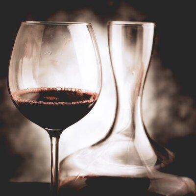 Quadro degustazione di vino rosso - stile vintage foto