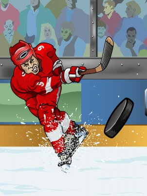 Quadro Detroit giocatore di hockey su ghiaccio.