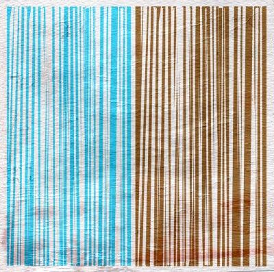 Quadro disegno astratto su struttura di legno del grano