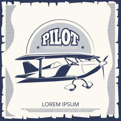 Quadro Disegno di etichetta - aereo poster poster vintage