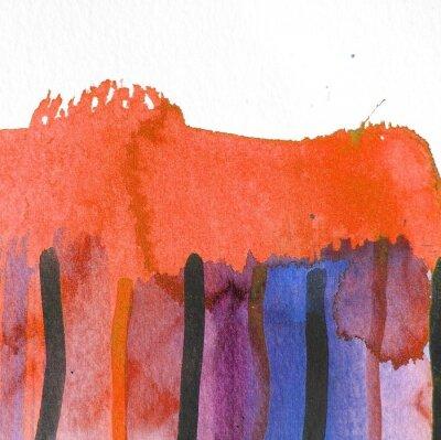 Quadro disegno di sfondo acquerello astratto