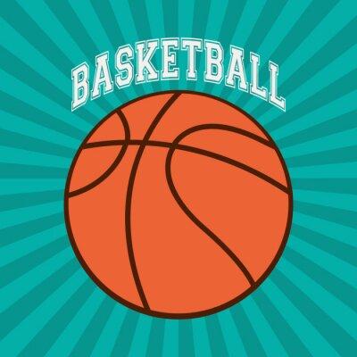 Quadro disegno di sport di pallacanestro